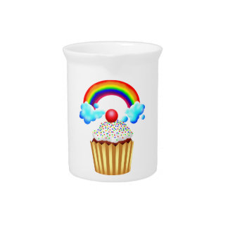 Cupcake Party with Rainbow & Sprinkles Pitcher
