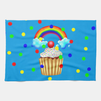 Cupcake Party with Rainbow & Sprinkles Tea Towel