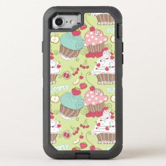 Cupcake pattern OtterBox defender iPhone 8/7 case