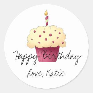 Cupcake Personalized Sticker