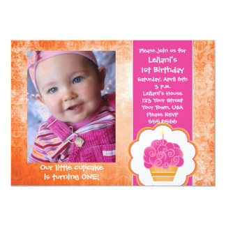 Cupcake Photo Invitations