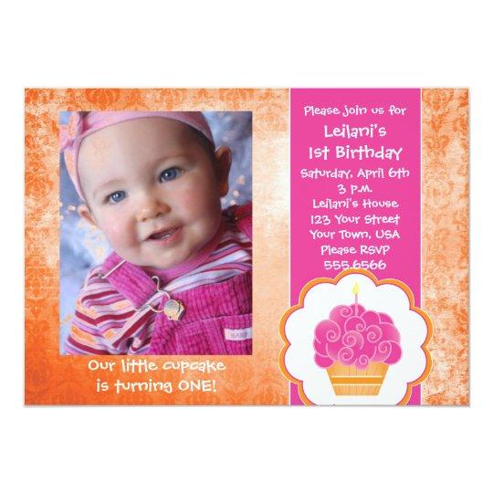 Cupcake Photo Invitations