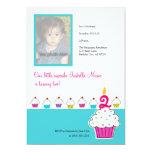 Cupcake Photo Invitations, Birthday Party