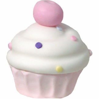 Cupcake Pin Photo Sculpture Badge