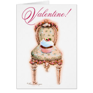 Cupcake Pink Valentine Greeting Card
