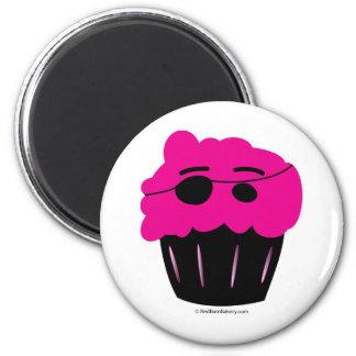 Cupcake Pirate 6 Cm Round Magnet