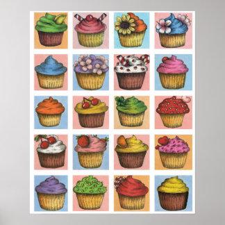 Cupcake Poster (Medium Scale)
