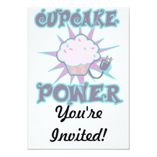 Cupcake Power 13 Cm X 18 Cm Invitation Card