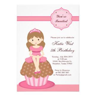 Cupcake Princess Birthday Invitation