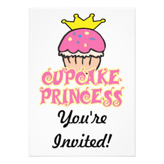 Cupcake Princess Custom Announcements