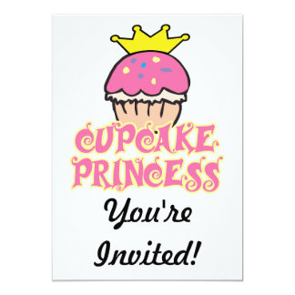 Cupcake Princess 13 Cm X 18 Cm Invitation Card