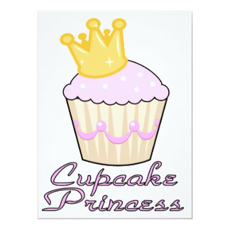 cupcake princess personalized announcements
