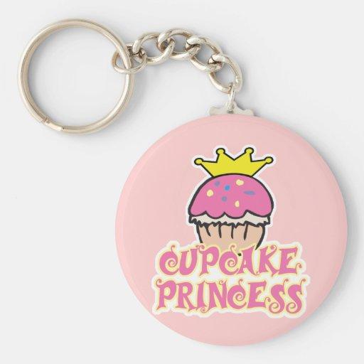Cupcake Princess Keychain