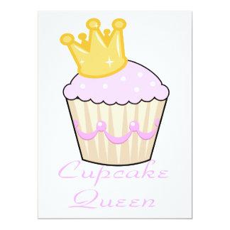 "cupcake queen 6.5"" x 8.75"" invitation card"