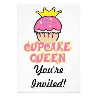 Cupcake Queen Invites