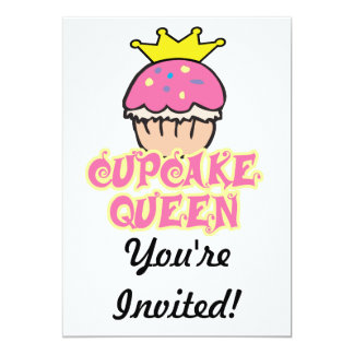Cupcake Queen 13 Cm X 18 Cm Invitation Card