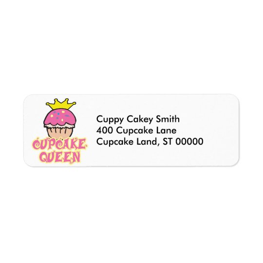 Cupcake Queen Return Address Label