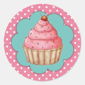 Cupcake Round Sticker