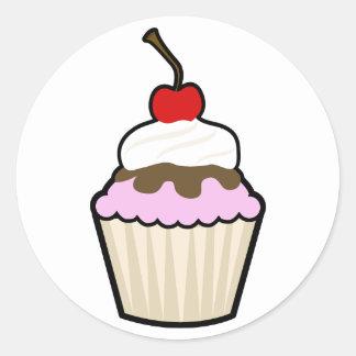 Cupcake Round Stickers