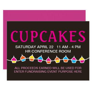 cupcake sale handbill flyers card