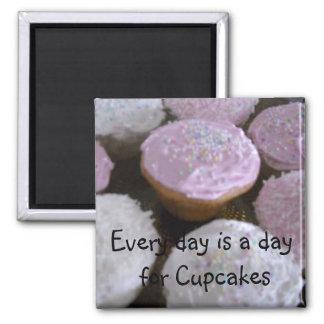 Cupcake Saying Square Magnet