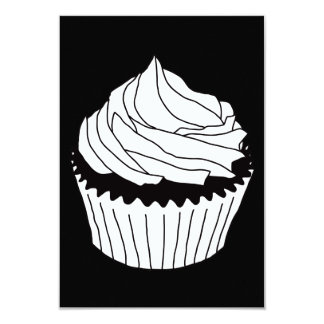 cupcake scribbles 9 cm x 13 cm invitation card