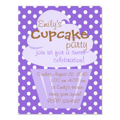 "Cupcake Shaping Up Nicely 4.25"" X 5.5"" Invitation Card"