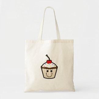 Cupcake Smile Face Canvas Bag