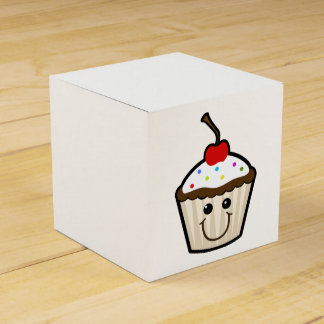 Cupcake Smile Face Favour Boxes