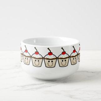 Cupcake Smile Face Soup Mug