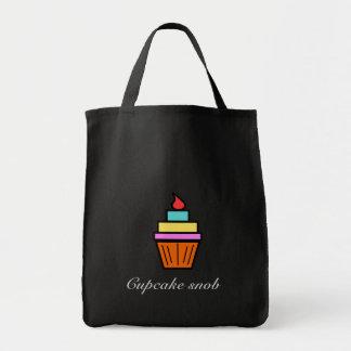 Cupcake snob layered cupcake tote bags