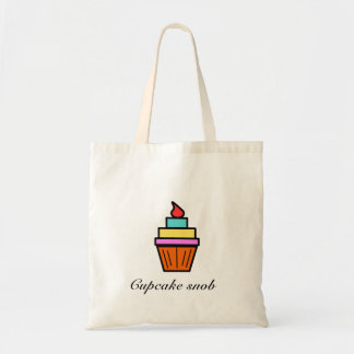 Cupcake snob layered cupcake canvas bags