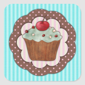 Cupcake Square Sticker