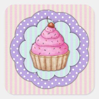 Cupcake Square Sticker