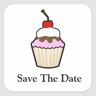 Cupcake Square Stickers