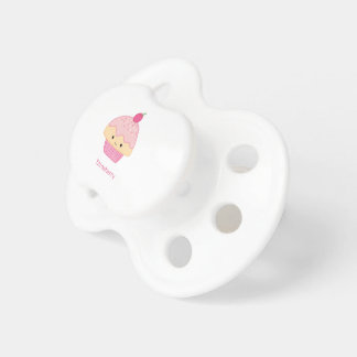 Cupcake, Strawberry Flavor Baby Pacifiers