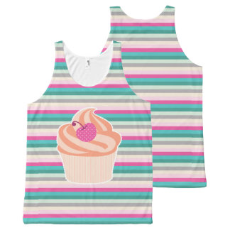 Cupcake - Stripes All-Over Print Tank Top