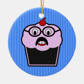 Cupcake Studmuffin Ceramic Ornament