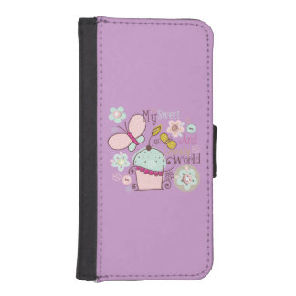 Cupcake Sweet Candy Purple Phone Wallets