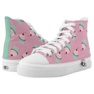 Cupcake Sweet Cherry Fancy Pink Girly Fun Printed Shoes