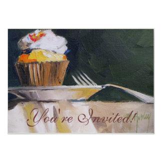 Cupcake Sweet Treat Pastry Dessert 11 Cm X 16 Cm Invitation Card