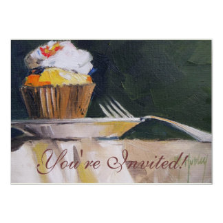 Cupcake Sweet Treat Pastry Dessert 4.5x6.25 Paper Invitation Card
