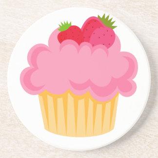 Cupcake Tea Sandstone Coaster