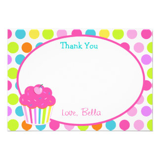 Cupcake Thank You Cards