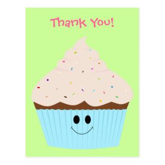 Cupcake Thank You Postcard