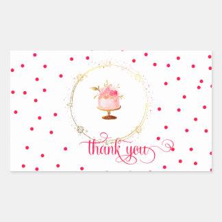 ★  Cupcake thank you Rectangular Sticker