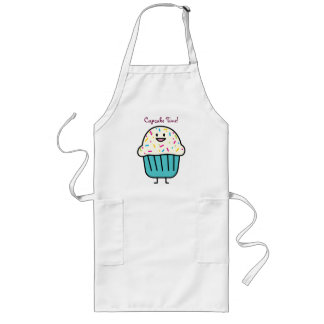 Cupcake Time with sprinkles sweet dessert fondant Long Apron