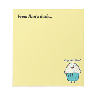 Cupcake Time with sprinkles sweet dessert fondant Notepad