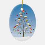 Cupcake Tree Holiday Ceramic Oval Decoration