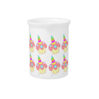 cupcake unicorn pitcher